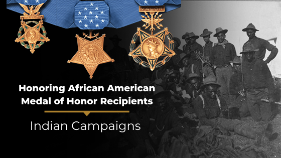 african american MOH recipients of the indian campaigns