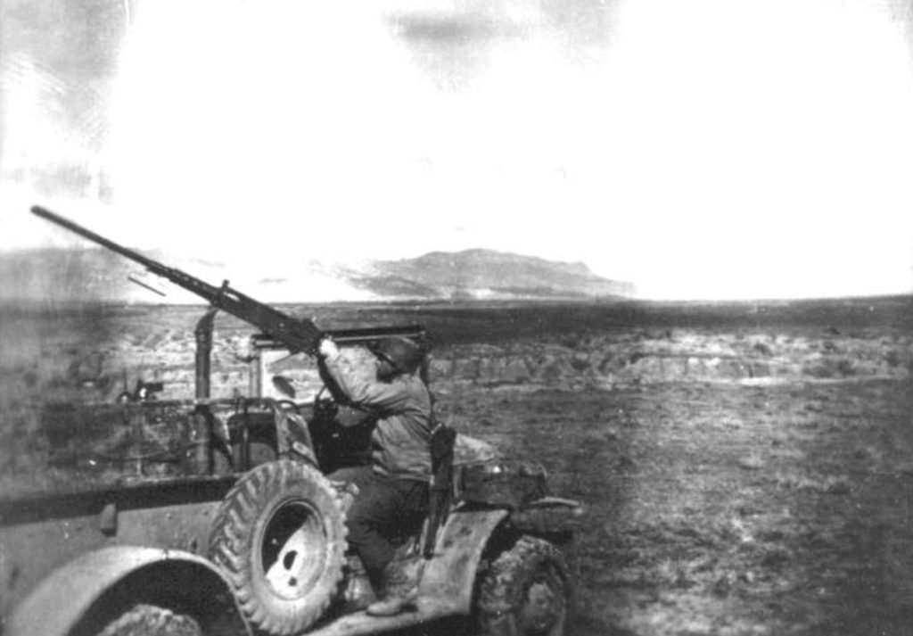 William W. Galt at Kasserine, during the Tunisian Campaign.